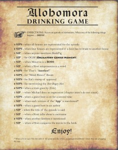 Alohomora! Drinking Game