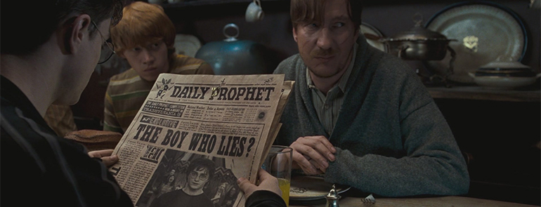 """The Daily Prophet Headline, """"The Boy Who Lies"""""""